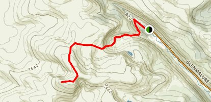 Lugnaquilla Ridge Trail Map