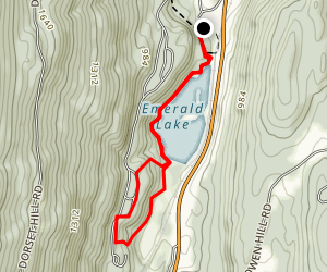 Emerald Lake  Map