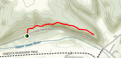 Upper Ice Cave Hill Trail  Map