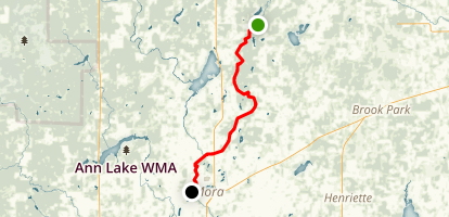 Snake River: County Route 3 to Mora Map
