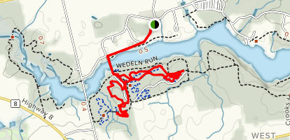 Trillium Trail and Round the Lake Loop Trail Map