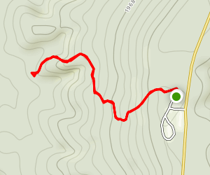 Ozark Highlands Trail from Fairview Campground Map