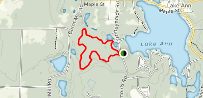 Lake Ann Loop Trail Map