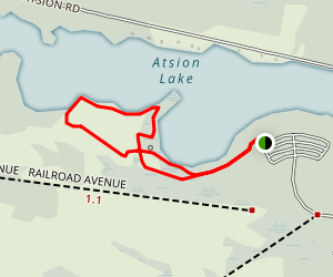 Atsion Lake Loop Map