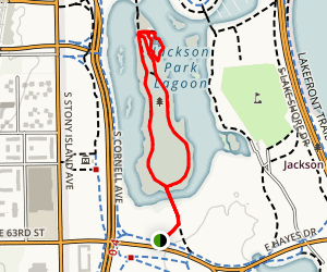 Wooded Island Loop Map