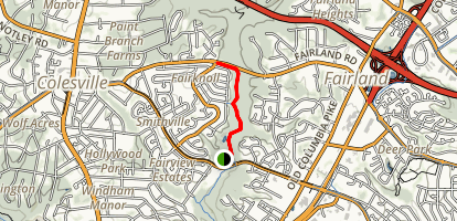 Paint Branch Trail Map