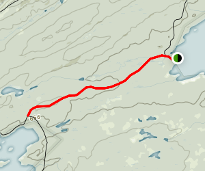 Lake Richie Trail from Moskey Basin Map