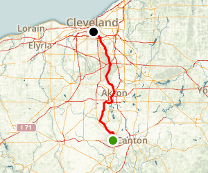 Ohio and Erie Canal Towpath Map