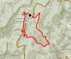 Piney Ridge Trail and Appalachian Trail Loop Map