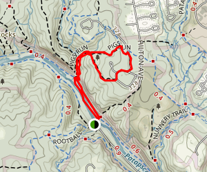 Forest Glen and Pigs Run Loop Map