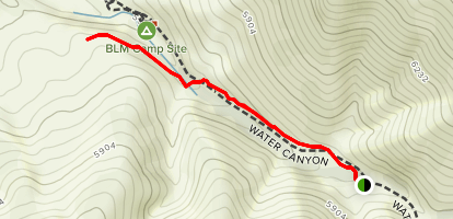 Water Canyon Overlook Trail Map