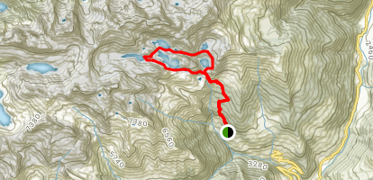 Sucotto Lake, Nero Lake, and Aviasco Lake Loop Map
