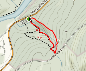 Kent Falls Red and Yellow Loop Trail Map