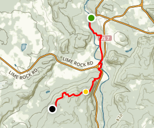 Appalachian Trail to West Cornwall Road Map