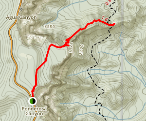 Agua Canyon Connecting Trail Map
