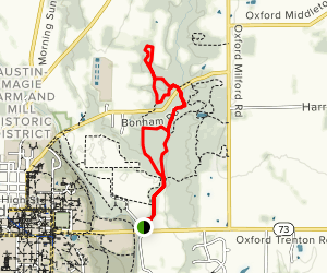 Bachelor Preserve North Loop and Kramer Preserve Map