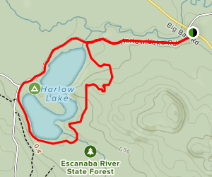 Harlow Lake Loop Trail Map