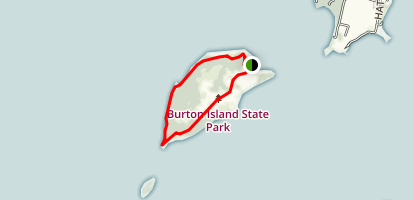 Burton Island Loop Trail Map