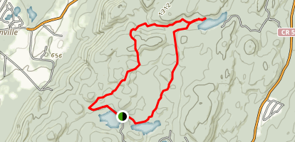 Silver Lake and Mud Pond Loop Trail Map