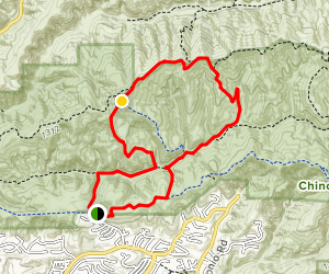 Little Canyon and Gilman Peak Loop Map