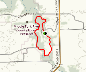 Middle Fork Forest Preserve Loop Trail Map