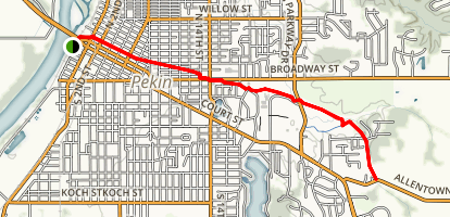 Pekin Bike Path Map
