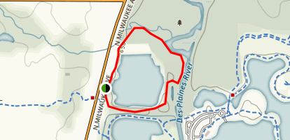 Independence Grove Dog Exercise Area Map