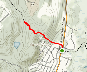 Governor Mountain via Appalachian Trail Map