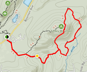Turkey Mountain Via Yellow and Green Trails Map