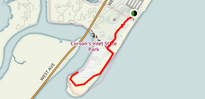 Corson Inlet Red Map