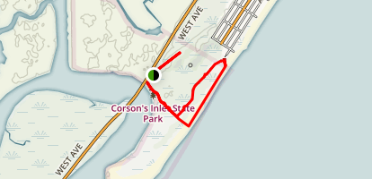 Corson Inlet Yellow Map