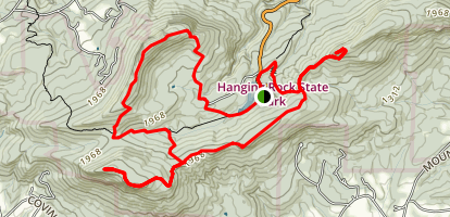 Hanging Rock State Park Five Peaks Loop Trail Map