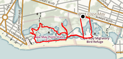 Cape May Nature Conservancy Map