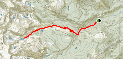 Bluebird Lake Trail Map