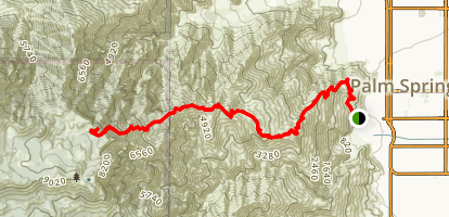 Cactus To Clouds Trail Familiarization Map