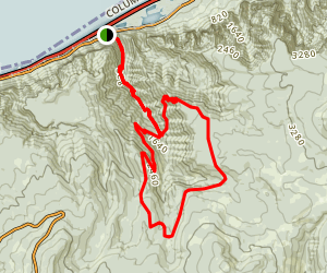 Oneonta Trail to Bell Creek Trail Loop Map