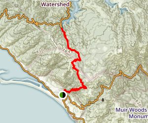 Matt Davis Trail to Cataract Trail Map