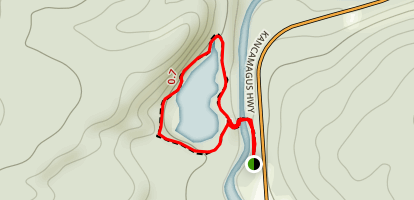 Rocky Gorge and Falls Pond Map