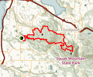 Cougar Mountain Loop Trail Map