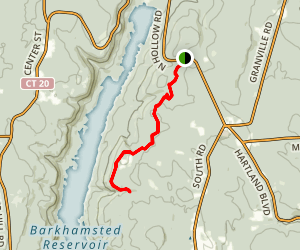 Roberts Brook Via Tunxis Trail Map