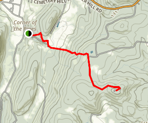 Cathedral Pines and Mohawk Mountain Trail Map