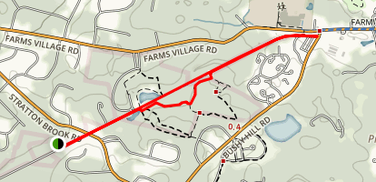 Stratton Brook Old Railroad Pathway Map