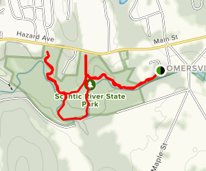 Scantic River and Keeney Mill Trail Map