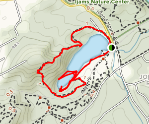 Tharp Trace at Meade's Quarry Map