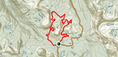 Lofty Lake Trail Extended Map
