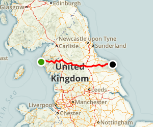 Wainwright's Coast To Coast Walk Map