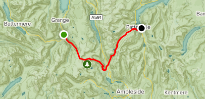 C2C Walk Segment 3: Rosthwaite to Patterdale Map