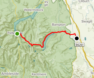 C2C Walk Segment 4: Patterdale To Shap Map