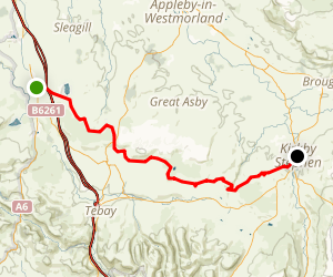C2C Walk Segment 5: Shap To Kirkby Stephen Map
