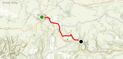 C2C Walk Segment 6: Kirkby Stephen To Keld Map